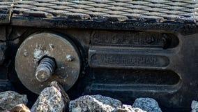 Train d'Eupean sur la voie photographie stock