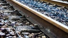 Train d'Eupean sur la voie photo libre de droits