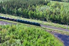 Train dans la forêt Photographie stock