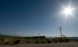 Train dans le désert de Mojavi Photos stock