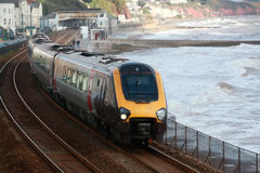 Train at Dawlish Royalty Free Stock Photography