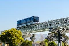 Train de BART, Oakland photo libre de droits