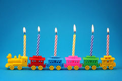 Train de bougie d'anniversaire Images stock