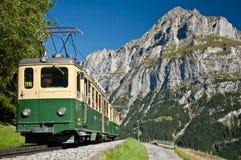 Train de câble dans le grindelwald Photos stock