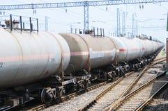Train de camion de réservoir d'huile Photos libres de droits