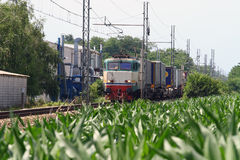 Train de cargaison Photos libres de droits