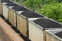 Train de charbon Photos libres de droits