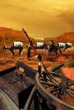 Train de chariot après attaque Photo libre de droits