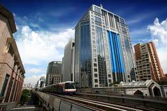 Train de ciel à Bangkok Images stock