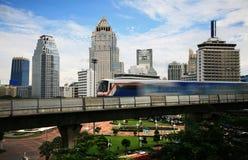 Train de ciel à Bangkok Photographie stock