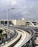 Train de ciel à l'international de Miami Photographie stock libre de droits