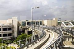 Train de ciel à l'international de Miami Image stock