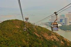 Train de ciel en Hong Kong Images libres de droits
