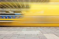 Train de départ Photos stock