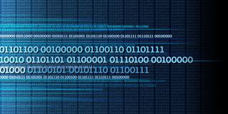 Train de données de données binaires, nombres binaire, grandes données, l'information - dyna illustration libre de droits