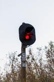 Train de feu de signalisation photographie stock libre de droits