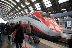 Train de Frecciarossa Photographie stock libre de droits
