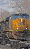 Train de fret de CSX Photos stock
