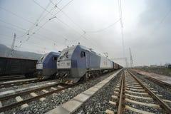 Train de fret de HeXie de Chinois Photo stock