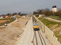 Train de fret en Bavière Photographie stock libre de droits