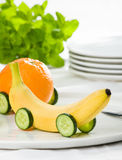 Train de fruit images stock