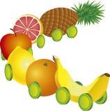 Train de fruits illustration stock