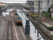 train de gare photo stock