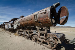 Train de Ghost, Bolivie Images libres de droits