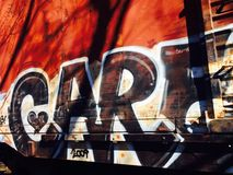 Train de graffiti Images libres de droits