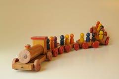 Train de jouet d'étain avec des lettres Photos libres de droits