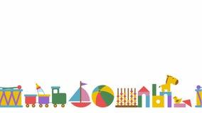 Train de jouet d'étain avec des lettres advertising illustration libre de droits