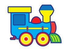 Train de jouet d'étain avec des lettres Images stock