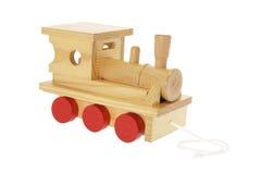 train de jouet en bois Images libres de droits