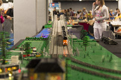 Train de LEGO Photos libres de droits