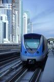 Train de métro de Dubaï Images stock