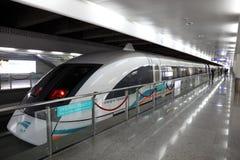 Train de Maglev à Changhaï, Chine Photo stock