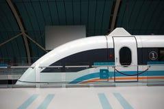Train de maglev de Changhaï images libres de droits