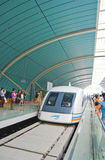 Train de maglev de Changhaï Chine Image libre de droits