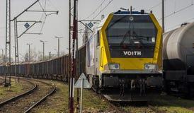 Train de marchandises dans la station Image libre de droits