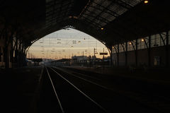 Train de matin Photos stock