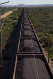 Train de minerai de fer images stock