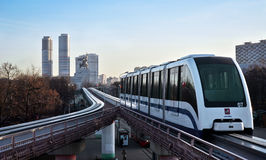 Train de monorail de Moscou Image libre de droits