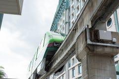 Train de monorail de Singapour Sentosa, Singapour, le 28 décembre 2017 photographie stock libre de droits