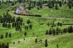 train de montagne Photo stock