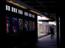Train de navette pour prospecter le stationnement New York image libre de droits