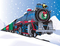 Train de Noël Photographie stock