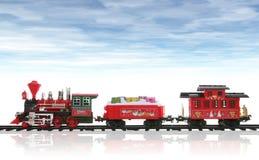 Train de Noël Photos stock