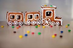 Train de Noël fait de pain d'épice photo libre de droits