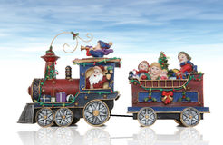 Train de Noël de Santa Image stock