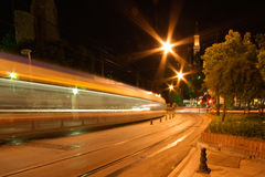 Train de nuit Photo stock